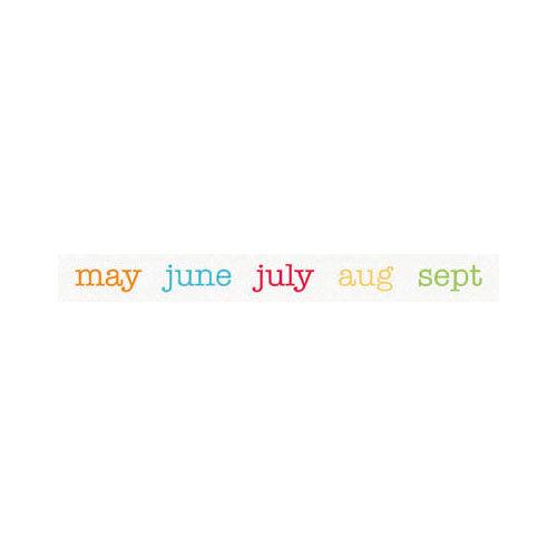Doodlebug Design - Take Note Collection - Washi Tape - Calendar of Color