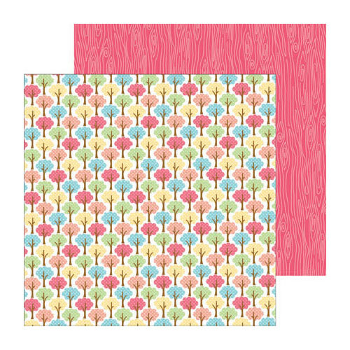 Doodlebug Design - Flower Box Collection - 12 x 12 Double Sided Paper - Garden Grove