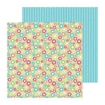Doodlebug Design - Flower Box Collection - 12 x 12 Double Sided Paper - Flower Garden