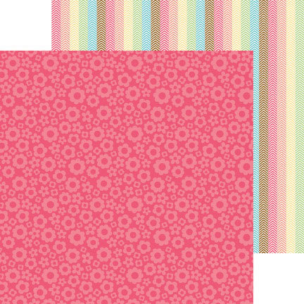 Doodlebug Design - Flower Box Collection - 12 x 12 Double Sided Paper - Cherry Blossoms