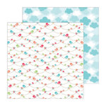 Doodlebug Design - Flower Box Collection - 12 x 12 Double Sided Paper - Garden Garland