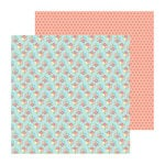 Doodlebug Design - Flower Box Collection - 12 x 12 Double Sided Paper - Wallflowers