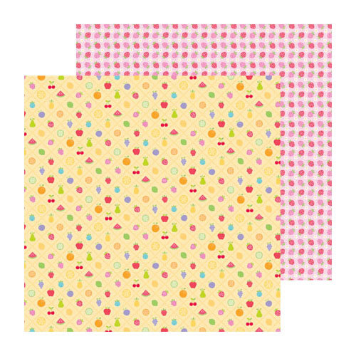 Doodlebug Design - Fruit Stand Collection - 12 x 12 Double Sided Paper - Fruit Stand
