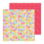 Doodlebug Design - Fruit Stand Collection - 12 x 12 Double Sided Paper - Pretty Petals