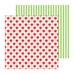 Doodlebug Design - Fruit Stand Collection - 12 x 12 Double Sided Paper - Apple a Day