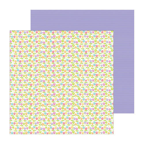 Doodlebug Design - Fruit Stand Collection - 12 x 12 Double Sided Paper - Bitty Blossoms