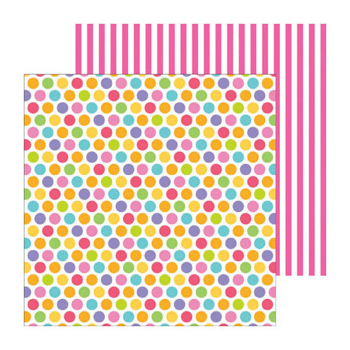 Doodlebug Design - Fruit Stand Collection - 12 x 12 Double Sided Paper - Fruity Dots