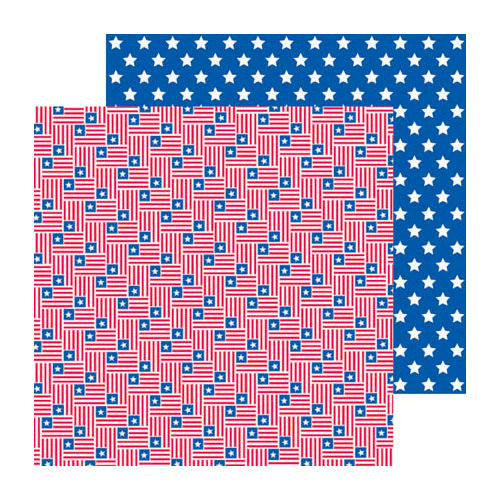 Doodlebug Design - Stars and Stripes Collection - 12 x 12 Double Sided Paper - Stars and Stripes