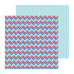 Doodlebug Design - Stars and Stripes Collection - 12 x 12 Double Sided Paper - Old Glory