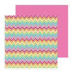 Doodlebug Design - Take Note Collection - 12 x 12 Double Sided Paper - Color Waves