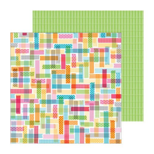 Doodlebug Design - Take Note Collection - 12 x 12 Double Sided Paper - Stick To It