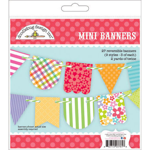 Doodlebug Design - Fruit Stand Collection - Mini Banners Craft Kit