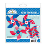 Doodlebug Design - Stars and Stripes Collection - Mini Pinwheels Craft Kit