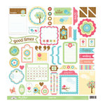 Doodlebug Design - Flower Box Collection - 12 x 12 Cardstock Stickers - This and That