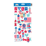 Doodlebug Design - Stars and Stripes Collection - Cardstock Stickers - Icons