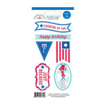 Doodlebug Design - Stars and Stripes Collection - Cardstock Stickers - Tags