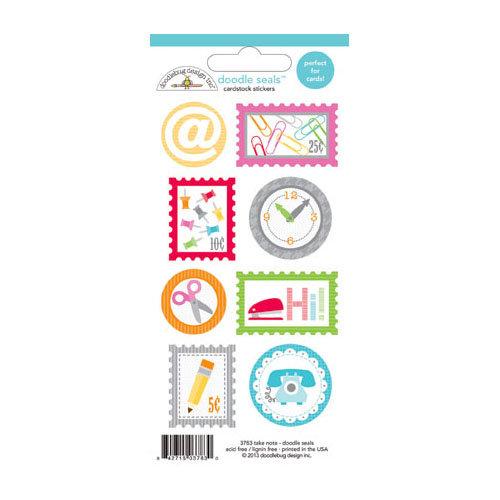 Doodlebug Design - Take Note Collection - Cardstock Stickers - Seals