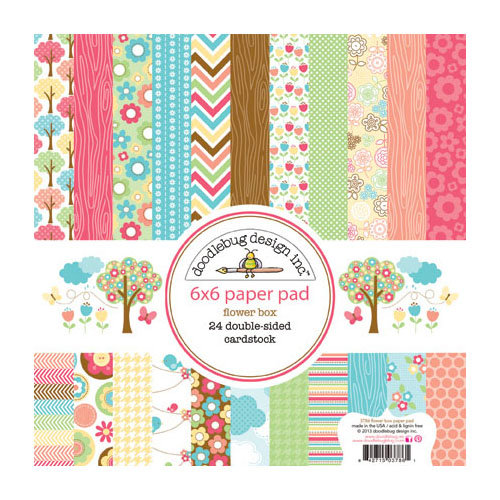 Doodlebug Design - Flower Box Collection - 6 x 6 Paper Pad