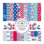 Doodlebug Design - Stars and Stripes Collection - 6 x 6 Paper Pad