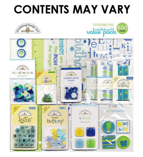 Doodlebug Design - Embellishment Value Pack - Birthday Boy