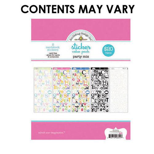 Doodlebug Design - Alphabet Cardstock Stickers - Party Mix Value Pack