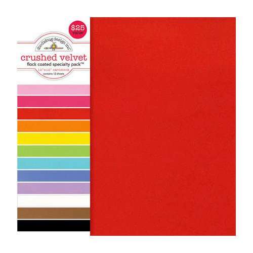 Doodlebug Design - 12 x 12 Crushed Velvet Cardstock Assortment