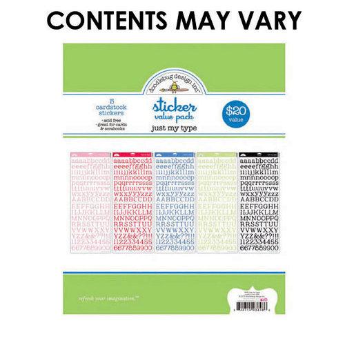 Doodlebug Design - Alphabet Cardstock Stickers - Just My Type Value Pack