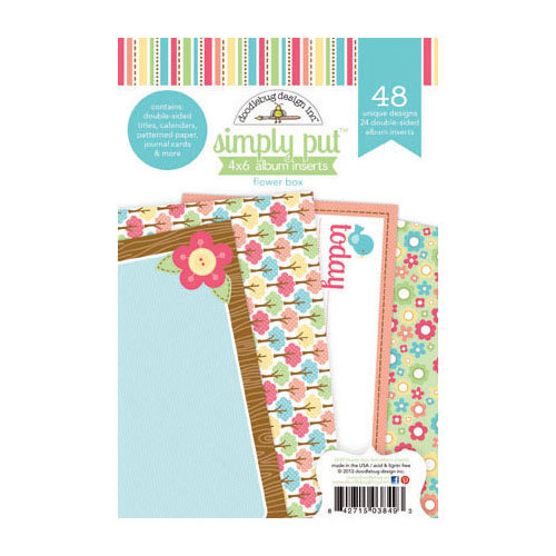 Doodlebug Design - Flower Box Collection - 4 x 6 Album Inserts
