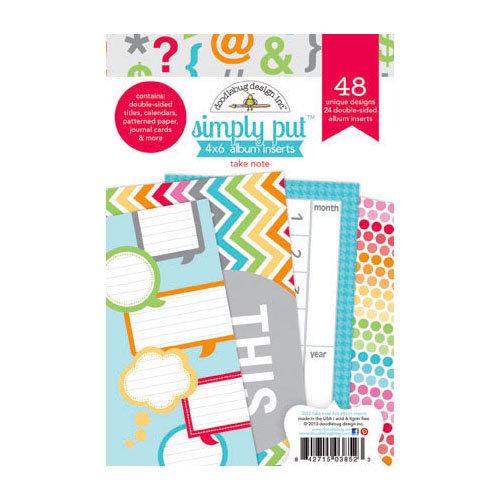 Doodlebug Design - Take Note Collection - 4 x 6 Album Inserts