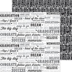Doodlebug Design - Cap and Gown Collection - 12 x 12 Double Sided Paper - Valedictorian