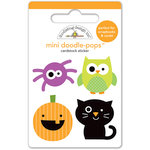 Doodlebug Design - Halloween Parade Collection - Doodle-Pops - 3 Dimensional Stickers - Mini - Halloween Pals