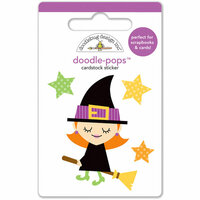 Doodlebug Design - Halloween Parade Collection - Doodle-Pops - 3 Dimensional Stickers - Be Witchy