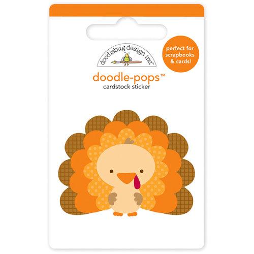 Doodlebug Design - Happy Harvest Collection - Doodle-Pops - 3 Dimensional Cardstock Stickers - Tommy Turkey