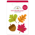 Doodlebug Design - Happy Harvest Collection - Doodle-Pops - 3 Dimensional Cardstock Stickers - Mini - Shades of Fall