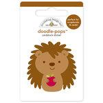 Doodlebug Design - Happy Harvest Collection - Doodle-Pops - 3 Dimensional Cardstock Stickers - Happy Hedgehog