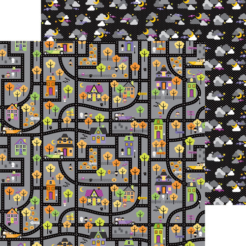 Doodlebug Design - Halloween Parade Collection - 12 x 12 Double Sided Paper - Haunted House