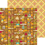 Doodlebug Design - Happy Harvest Collection - 12 x 12 Double Sided Paper - Harvest Homes