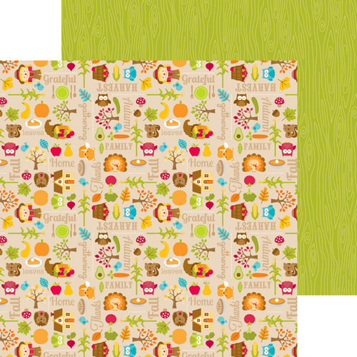 Doodlebug Design - Happy Harvest Collection - 12 x 12 Double Sided Paper - Fall Frolic