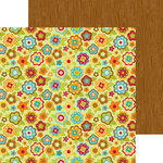 Doodlebug Design - Happy Harvest Collection - 12 x 12 Double Sided Paper - Fall Flowers