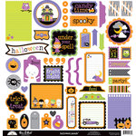 Doodlebug Design - Halloween Parade Collection - 12 x 12 Cardstock Stickers - This and That