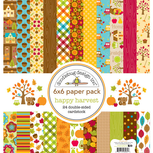 Doodlebug Design - Happy Harvest Collection - 6 x 6 Paper Pad