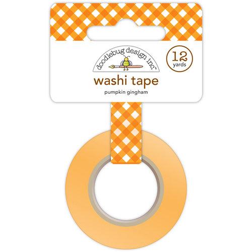 Doodlebug Design - Happy Camper Collection - Washi Tape - Pumpkin Gingham