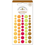 Doodlebug Design - Happy Harvest Collection - Sprinkles - Self Adhesive Enamel Dots - Fall