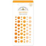 Doodlebug Design - Sprinkles - Self Adhesive Enamel Dots - Tangerine
