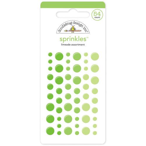 Doodlebug Design - Sprinkles - Self Adhesive Enamel Dots - Limeade