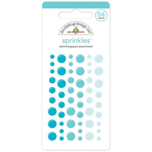 Doodlebug Design - Sprinkles - Self Adhesive Enamel Dots - Swimming Pool
