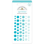 Doodlebug Design - Sprinkles - Self Adhesive Enamel Dots - Swimming Pool