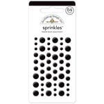Doodlebug Design - Sprinkles - Self Adhesive Enamel Dots - Beetle Black