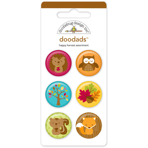 Doodlebug Design - Happy Harvest Collection - Flair Badges - Doodads