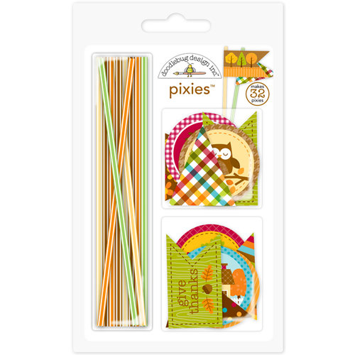 Doodlebug Design - Happy Harvest Collection - Pixies - Straw Picks
